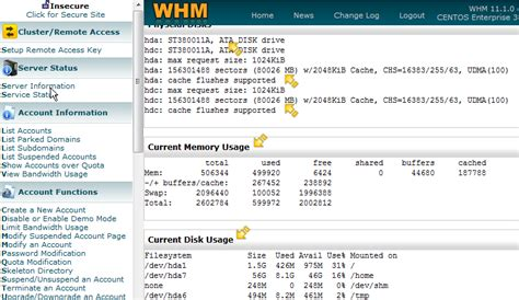 How To Check Your Whm Server S Status And Information