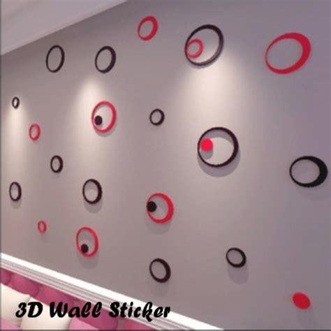 jual 3d wall sticker model bulat hiasan dinding bahan