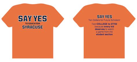 student section t shirts say yes to one more orange t shirt troy nunes is an