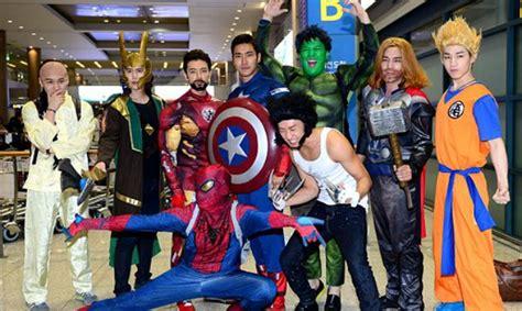 Costume Anak Kostum Power Ranger Spd Anak hebohnya junior tiba di bandara pakai kostum kabar berita artikel