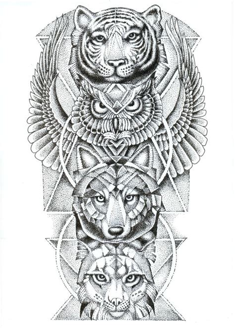 totem tattoo designs 25 best ideas about totem pole on