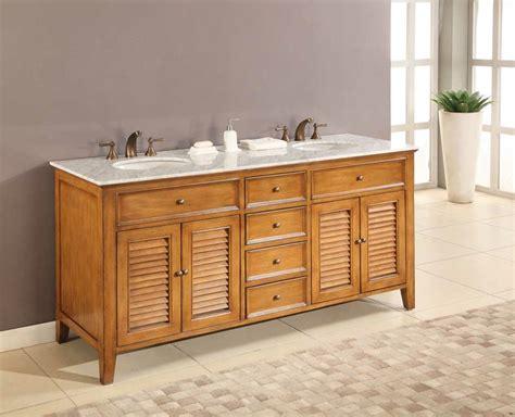 Oak Bathroom Vanities J J International 70 Quot Oak Shutter Vanity Sink White Marble Top