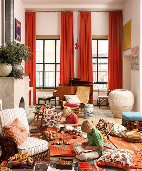 curtains for wall covering lavish midcentury living areas decors with fireplace