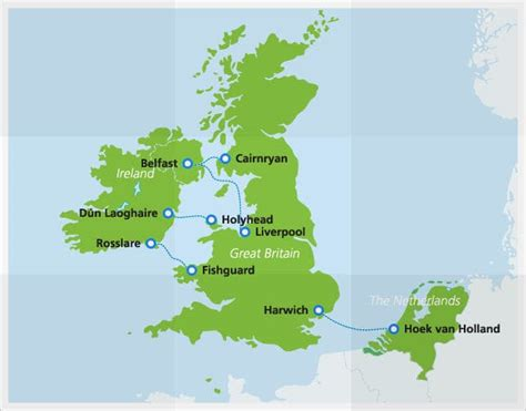 netherlands line map stena line discounted travel between the netherlands and