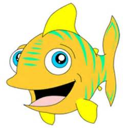 fish cartoon image coloring kids