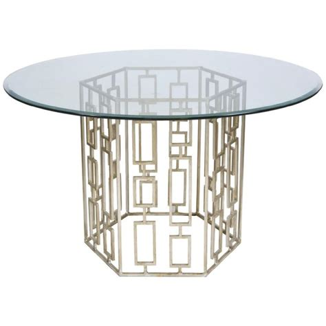 Silver Leaf Dining Table Worlds Away Jackson Silver Leaf Dining Table