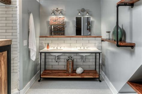 omaha open shelf bathroom industrial with custom metal