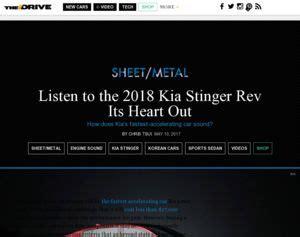 kia listen to the 2018 kia stinger rev its heart out
