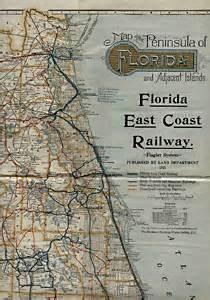 florida east coast railway map george glazer gallery antique maps florida east coast