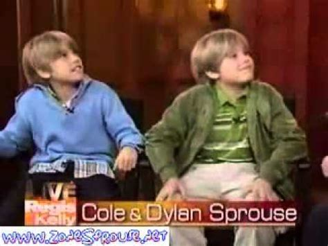 dylan and cole sprouse 2005 new year cole and dylan sprouse on live with regis and kelly in