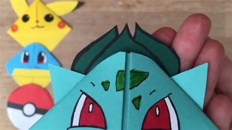How To Make Origami Bulbasaur - easy bulbasaur diy bookmark origami inspired