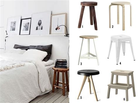 Stool As Bedside Table stool bedside table apartment therapy