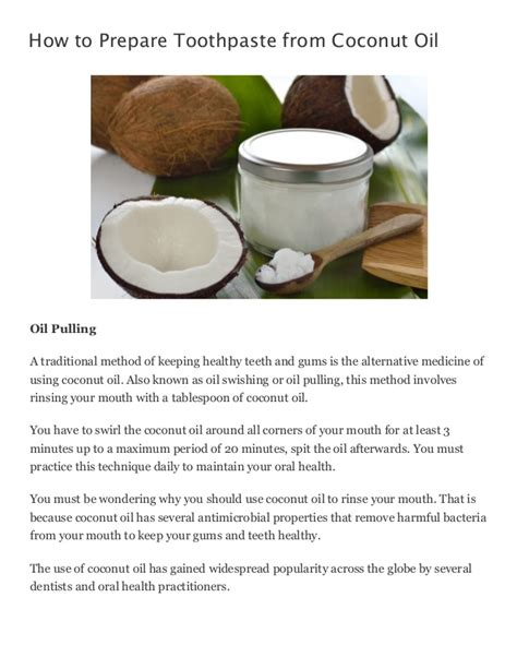 how to prepare toothpaste from coconut