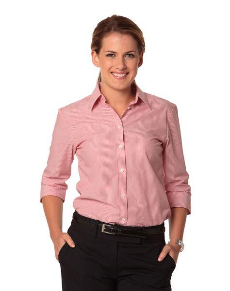 3 4 Sleeve Striped Shirt s balance stripe 3 4 sleeve shirt rjs pty ltd