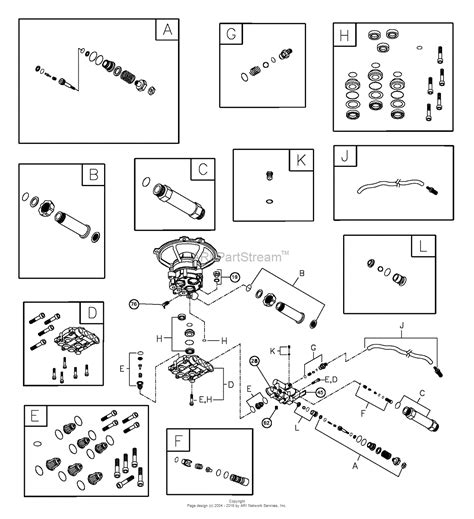 troy bilt pressure washer diagram briggs and stratton power products 020293 1 2 550 psi