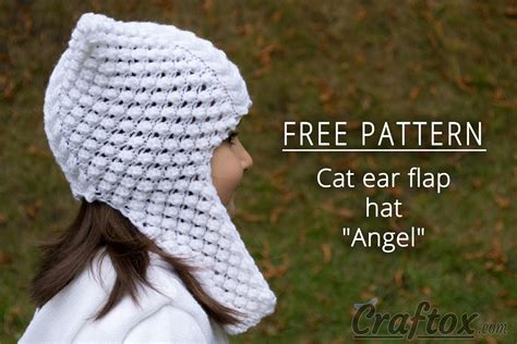 cat ear knit hat pattern cat ear flap hat quot quot free knitting pattern