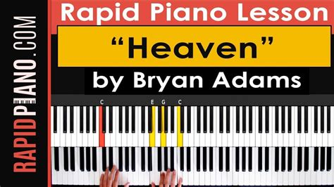 tutorial piano bryan adams how to play quot heaven quot by bryan adams piano tutorial