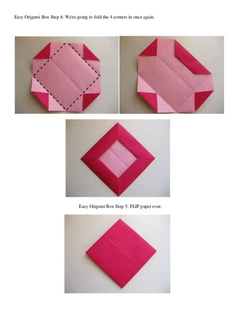 Origami Box Step By Step - easy origami box step 1