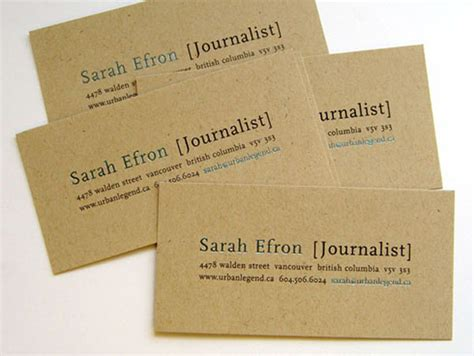 Paper Business - 20 eco friendly recycled paper business cards designmodo