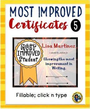 most improved student award by heather kaczmarek tpt