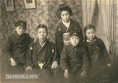 OLD PHOTOS of JAPAN: Family in Formal Wear 1910s