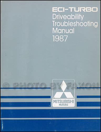 auto repair manual online 1987 mitsubishi mirage electronic valve timing 1987 mitsubishi mirage repair shop manual set original