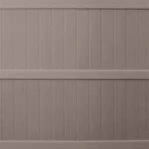 home depot fencing prices keter 6 ft x 6 ft taupe vinyl fence panel 202977 the