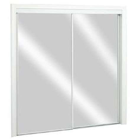 Reliabilt Mirrored Closet Doors Reliabilt Flush Mirror Sliding Closet Interior Door Common 72 In X 80 In Actual 72 In X 78