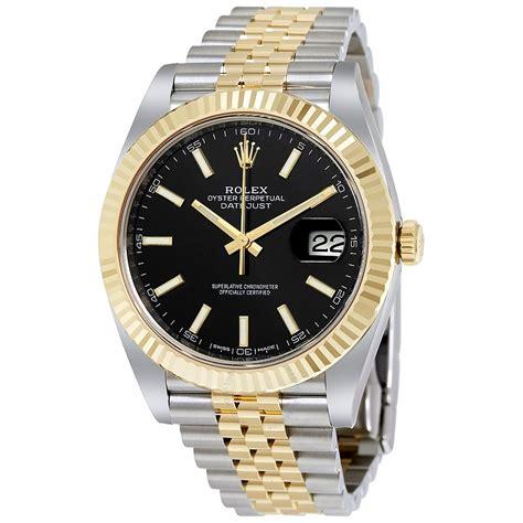 Rolex Ro147 Yellow Silver rolex datejust 41 black steel and 18k yellow gold jubilee s 126333bksj datejust
