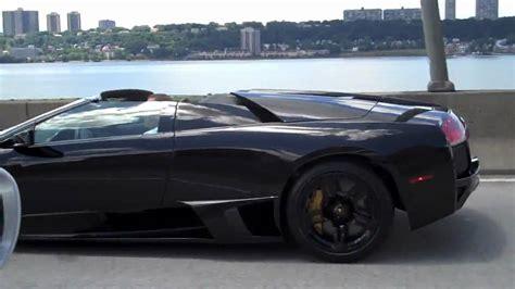Black Lamborghini Murcielago Black Lamborghini Murcielago Roadster Lp640 Hd