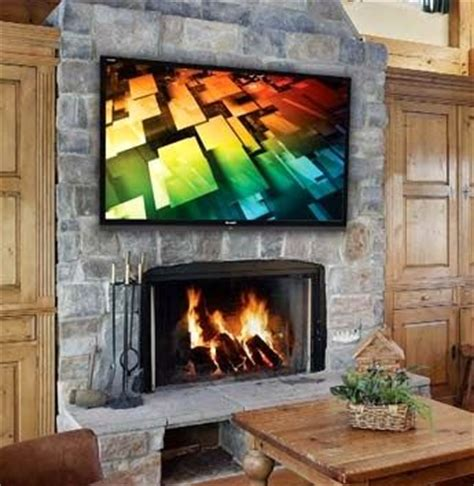 70 quot led tv mounted fireplace house 2013