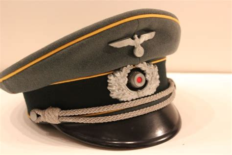 German Officer Hat by Authentic Wwii German Army Cavalry Officer S Hat