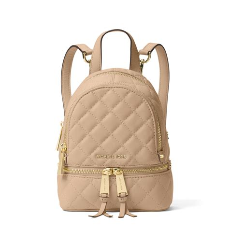 Mk Backpack Rhea Xs 20x17cm michael kors rhea small quilted leather backpack in