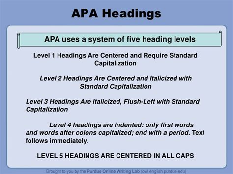 section headings apa apa citation guide