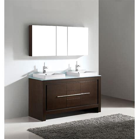 online bathroom vanities madeli vicenza 60 quot double bathroom vanity walnut free