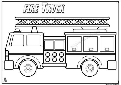 fire truck coloring pages to download and print for free fire truck free coloring pages