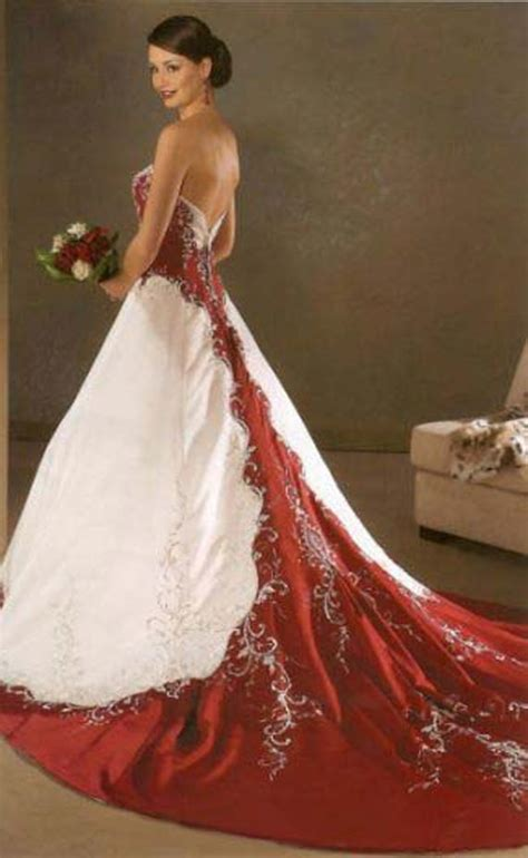 Rote Brautkleider by Goes Wedding 187 Traditional Mix Royal Satin Wedding Dress