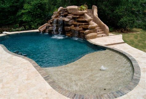 small inground pools small inground pool with rock waterfall pools for home