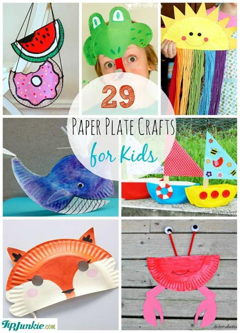 Craft Work With Paper Plate - 29 paper plate crafts for tip junkie