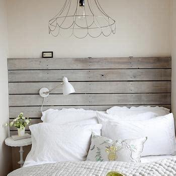 white wooden slatted headboard wood plank headboard cottage bedroom the cross decor
