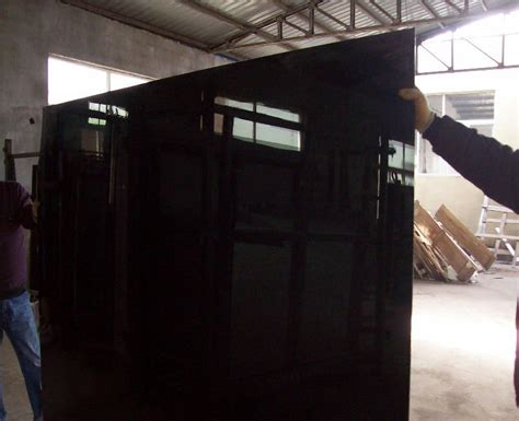 Black Mirror Glass | float glass silver coated black mirror glass black colored