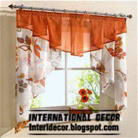 Orange Kitchen Curtains Designs Small Curtains Models For Kitchens In Different Colors