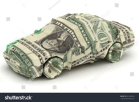 Dollar Bill Origami Car - dollar car money origami car made stock illustration