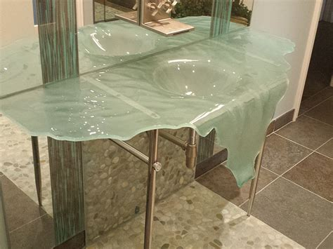 glass bathroom countertops sinks recent glass sink installation showcase cgd glass countertops