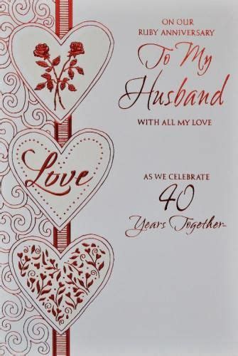 Wedding Anniversary Greeting Card For Husband by Anniversary Cards For Husband Husband Ruby