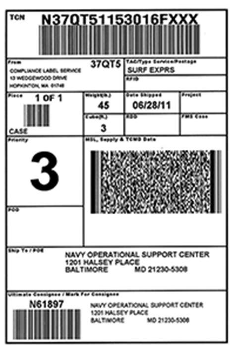 Mil Std 129 Military Shipping Labels Rfid And Container Labels Pallet Tag Template