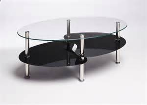 Black Glass Coffee Table Black Clear Oval Glass And Steel Cara Coffee Table