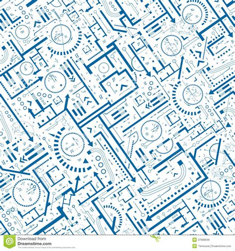 pattern engineering architectural seamless pattern royalty free stock image