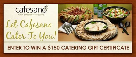 Virginia Sweepstakes - enter for your chance to win or catering sweepstakes cafesano