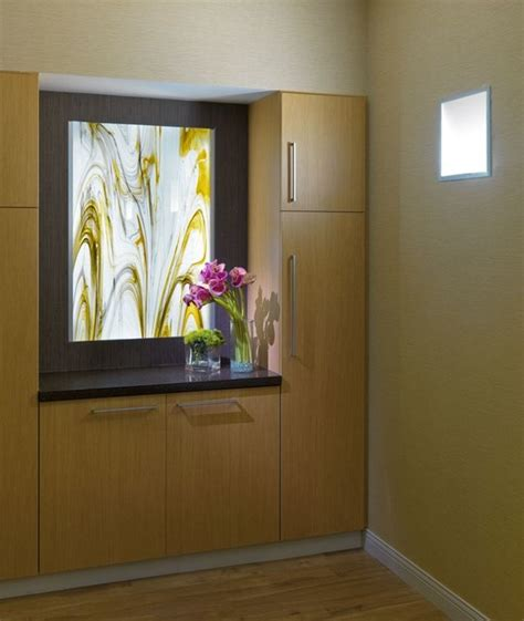 Home Decoration Forum by Backlit Glass Panels Contemporary Home Decor Los